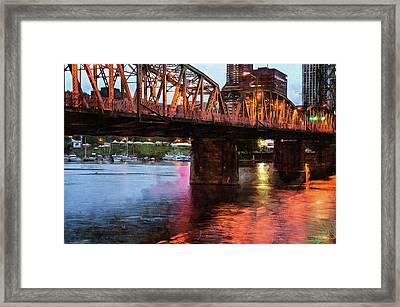 Hawthorne Bridge At Last Light Framed Print by Thom Zehrfeld