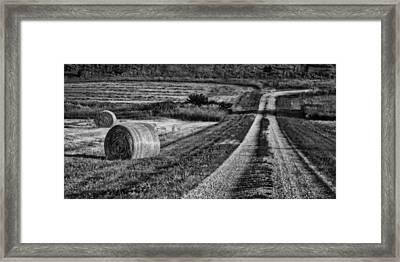 Hay Bales - Country Road Framed Print by Nikolyn McDonald
