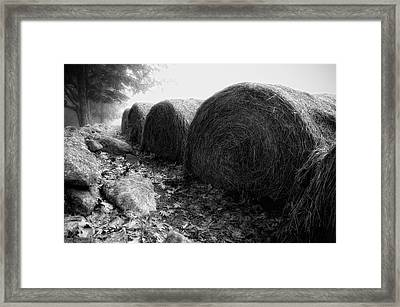 Hay Bales Paxton Ma Framed Print by Richard Danek