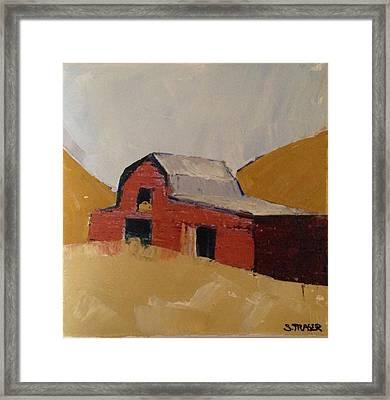 Hay Barn Framed Print