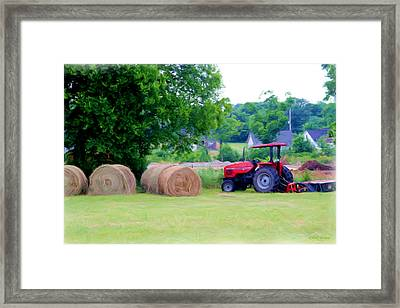 Hay Day 2 Framed Print by Ericamaxine Price