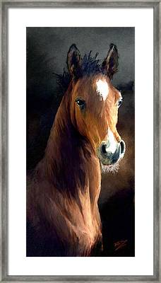 Framed Print featuring the painting Hay Dude by James Shepherd