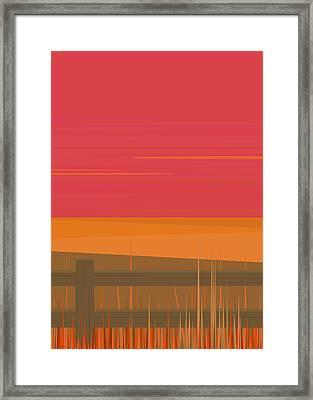 Hay Fields Fenced Framed Print