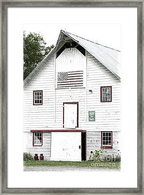 Hay For Sale Framed Print by Nicki McManus