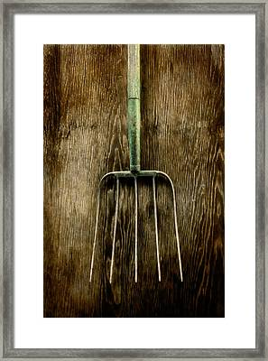 Tools On Wood 7 Framed Print by Yo Pedro