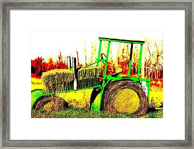 Hay It's A Tractor Framed Print