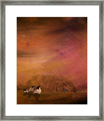 Framed Print featuring the digital art Hay by Jean Moore