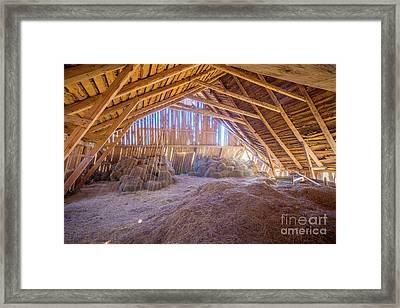 Hay Loft Framed Print by Inge Johnsson