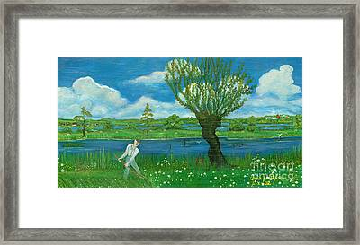 Hay-making Framed Print by Anna Folkartanna Maciejewska-Dyba
