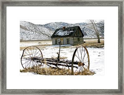 Hay Rake At Butch Cassidy Framed Print