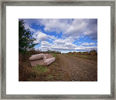 Hay Sofa Sky Framed Print