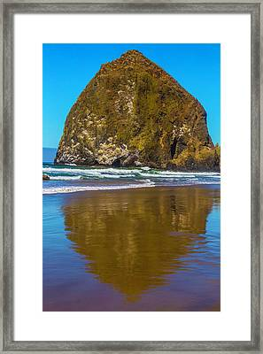 Hay Stack Rock Framed Print by Garry Gay