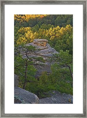 Hay Stack Rock.  Framed Print