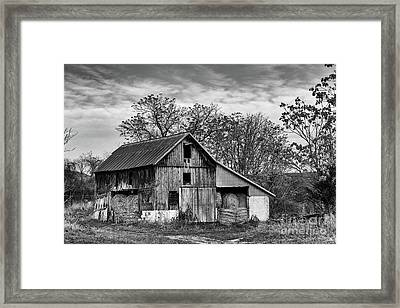 Hay Storage Framed Print by Nicki McManus