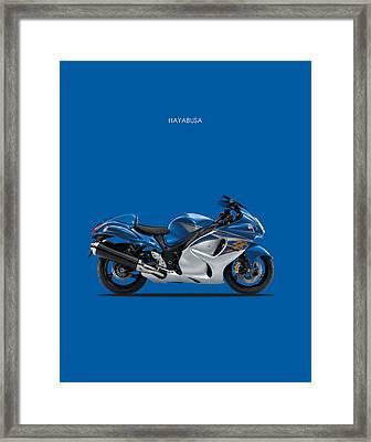 Hayabusa In Blue Framed Print by Mark Rogan