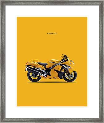 Hayabusa In Yellow Framed Print by Mark Rogan