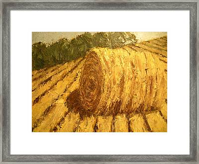 Haybale Hill Framed Print by Jaylynn Johnson