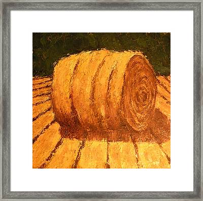 Haybale Framed Print by Jaylynn Johnson
