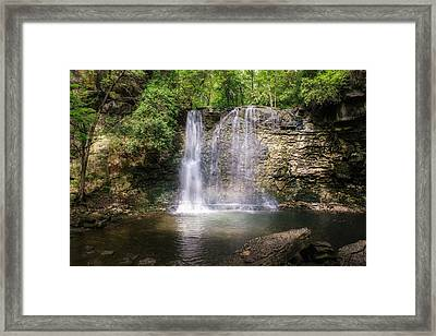 Hayden Run Waterfall Framed Print