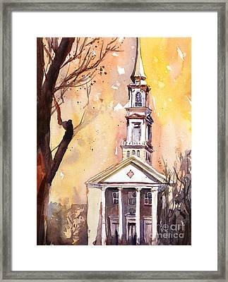 Hayes Barton Church Raleigh Nc Framed Print by Ryan Fox