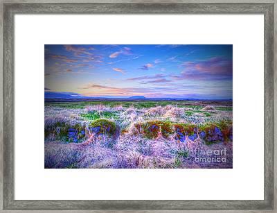 Hayfield Near Selfoss Iceland Framed Print