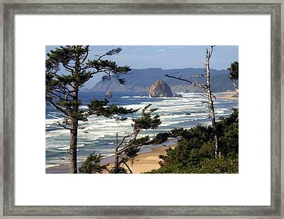 Hayhstack Rock Framed Print by Marty Koch