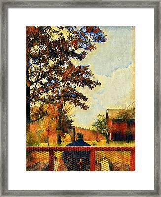 Hayride  Framed Print by Jenn Teel