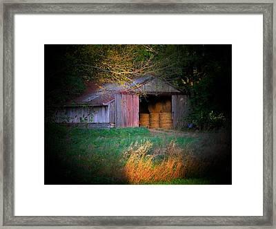 Hayroll Barn Framed Print