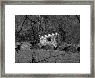 Hayroll Shed 2 Framed Print by Michael L Kimble