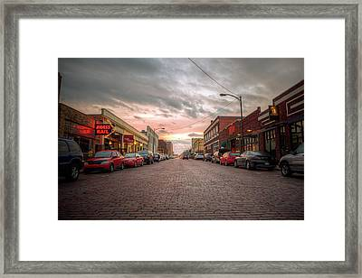 Hays Downtown Framed Print