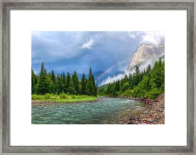 Haystack Creek- Glacier National Park Framed Print
