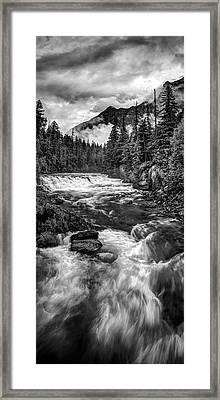 Haystack Creek Vertical Panorama Framed Print