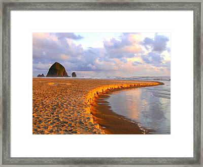 Haystack Heaven Framed Print