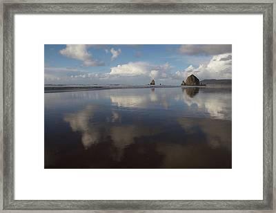 Haystack Needles Horizon Fc Framed Print