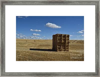 Haystack Off Hwy 2 Framed Print
