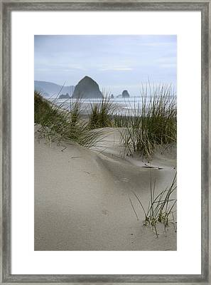 Haystack Rock From Chapman Point Framed Print