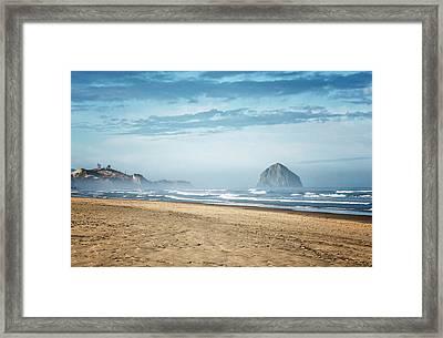 Haystack Rock Pacific City Framed Print