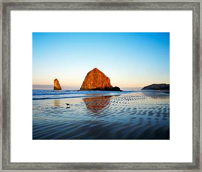 Haystack Rock Framed Print by Panoramic Images