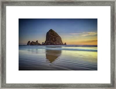 Haystack Rock Framed Print by Rick Berk