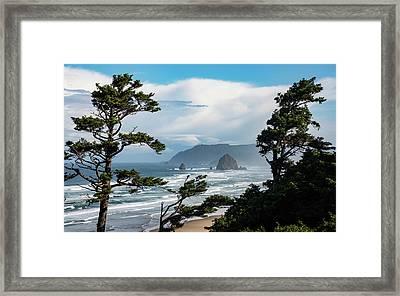 Haystack Views Framed Print by Darren White