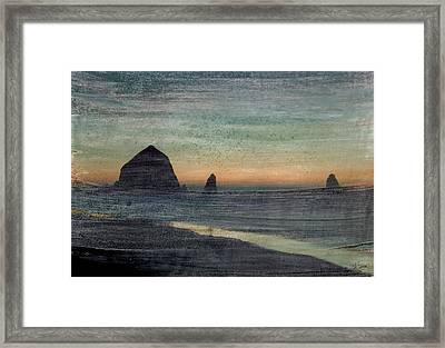Haystacks Framed Print