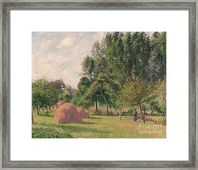 Haystacks, Morning, Eragny, 1899 Framed Print