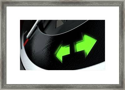 Hazard Dashboard Light Framed Print