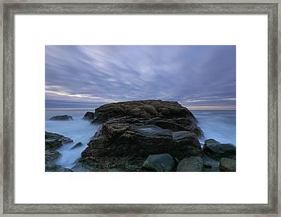 Hazard Rock Framed Print by Juergen Roth