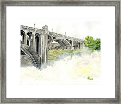 Haze At The Falls Framed Print