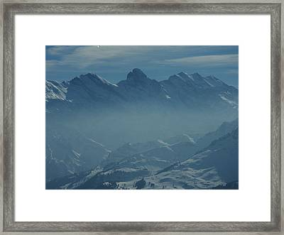 Haze In The Valley Framed Print