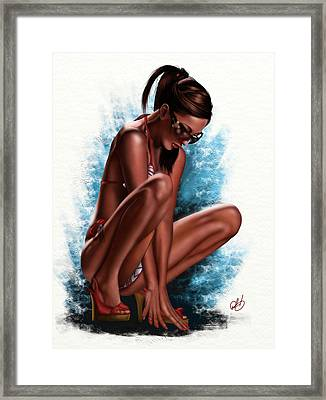 Haze Framed Print by Pete Tapang