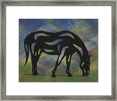 Hazel - Abstract Horse Framed Print