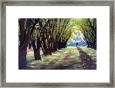 Hazel Green Framed Print by Carl Capps
