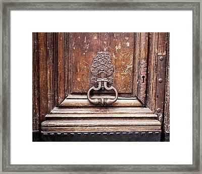 Hazel - Paris Door Photography Framed Print by Melanie Alexandra Price